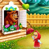 Игра Машенька и медведь собираются на пикник