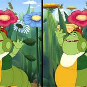 Игра Лунтик и гусеница играют в отгадайки