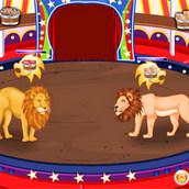 Игра Уход за цирковыми львами