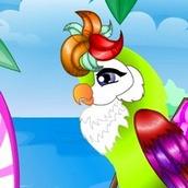 Игра Одевалка попугая