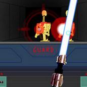 Сражение лазерным мечом из Звёздных войн