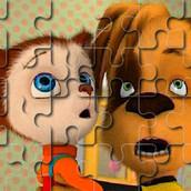 Игра Барбоскины: Пазл с Дружком и Малышом