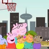 Игра Cвинка Пеппа: баскетбол