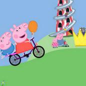 Игра Поездка Пеппы на велосипеде