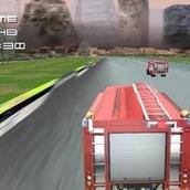 Игра 3D гонки на пожарных машинах