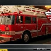 Игра Пожарная машина на задании