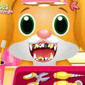 Игра Стоматолог для животных: лечение зубов щенка