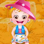Малышка Хейзел на празднике урожая