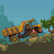 Игра Перевозка камней на грузовике