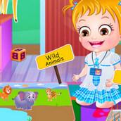 Игра Малышка Хейзел знакомится с животными