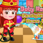 Игра Одевалка девочки пожарной