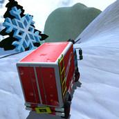 Гонки на монстр-траках по снежным трассам