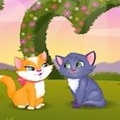 Игра Поцелуй кошек на лугу