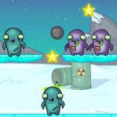 Игра Атака зомби-пингвинов