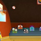 Игра Монстрики на баскетбольной площадке