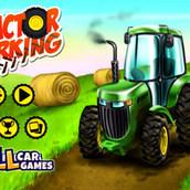 Трактор трудится на ферме
