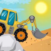 Игра Тракторы гоняют по пустыне