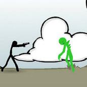 Игра Разборки Стикмена с инопланетянами