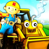 Строитель Боб гоняет на тракторе