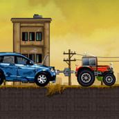 Игра Трактор спасает машины
