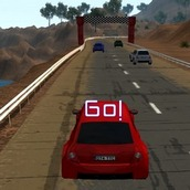 Игра Заезды на красных машинах