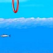 Игра Дельфин плавает среди рыб