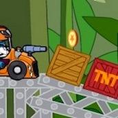 Игра Динозавры 4: устраиваем гонки