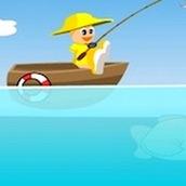 Игра Рыбалка на лодке за время