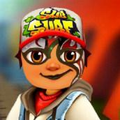 Игра Сабвей Сёрф: Рисунок на лице Джейка