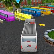 Игра Трёхмерная парковка автобуса