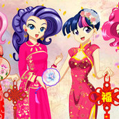 Игра Девушки Эквестрии: аниме одевалка