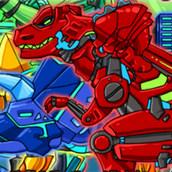 Игра Создай робота динозавра