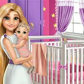 Игра Украшение дома для дочурки Рапунцель