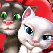 Игра Поцелуйчики кота Тома