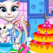 Игра Торт кошечки Анжелы