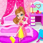 Игра Принцесса убирает во дворце