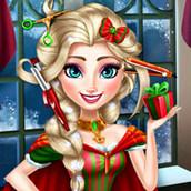 Игра Новогодняя причёска Эльзы