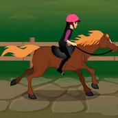 Тренировка лошади на ранчо