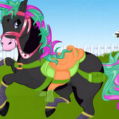 Игра Создай красивую лошадку