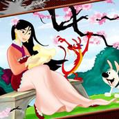 Игра Раскрась рисунок с Мулан