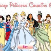 Игра Раскраски принцесс Диснея