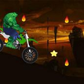 Игра Халк гоняет на мотоцикле