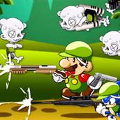 Игра Соник и Марио уничтожают зомби