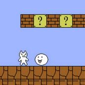 Белый котик в мире Марио
