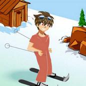 Игра Дэн Кузо из Бакуган катается на лыжах