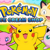 Покемоны в магазине мороженого