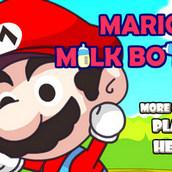 Игра Марио и бутылочки молока