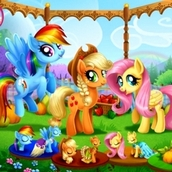 Пони на ярмарке
