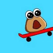 Поу скейтбордист