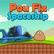 Игра Поу ремонтирует космический корабль
